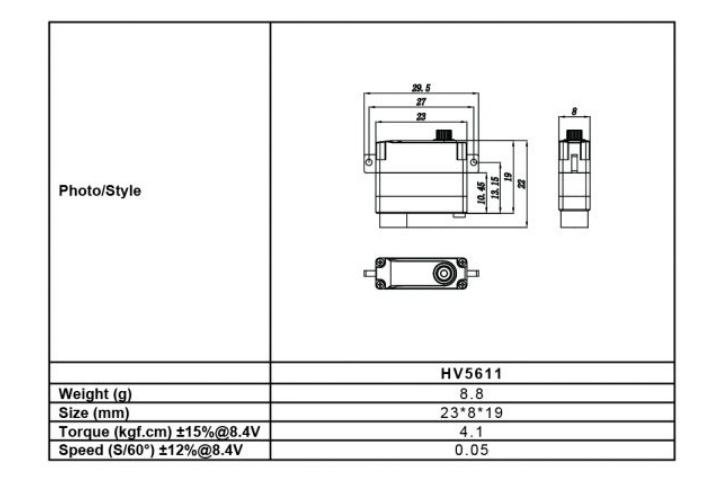 FRSKY Xact Servo HV5611サーボ