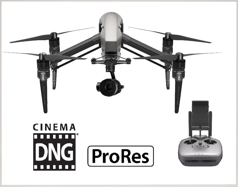 DJI INSPIRE2-【X5S付】 COMBO (DNG・PRORESライセンス付)